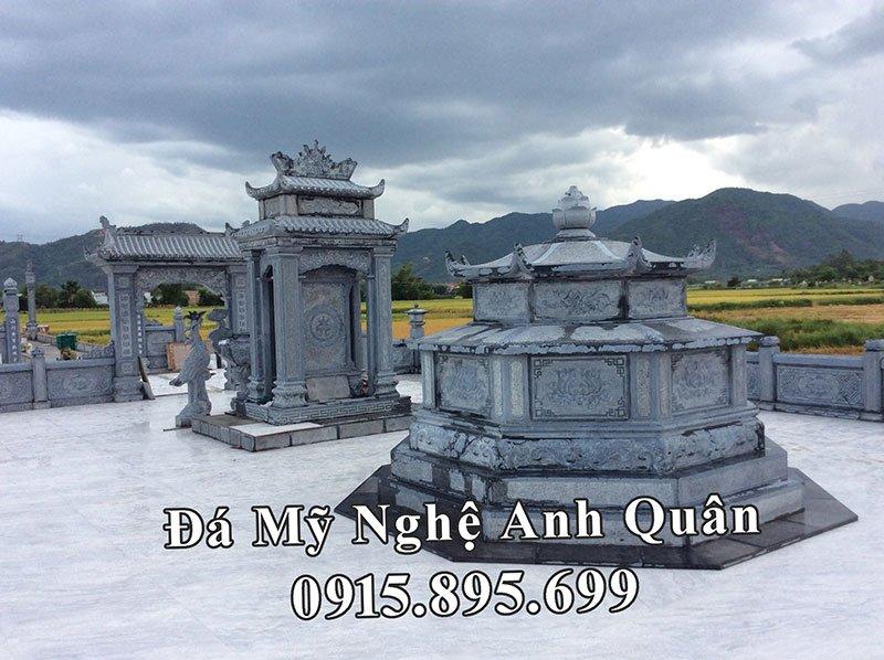 Khu Lăng mộ đá xanh rêu đẹp của Đá mỹ nghệ Anh Quân tại Quảng Nam