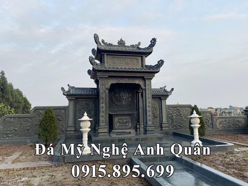 Mẫu Lăng thờ đá xanh rêu đẹp của Khu Lăng mộ đá tại Nam Định