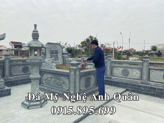 Ngôi Mộ đá xanh rêu tựa ngai, thiết kế đặc sắc của Nghệ nhân trẻ Anh Quân Ninh Bình.