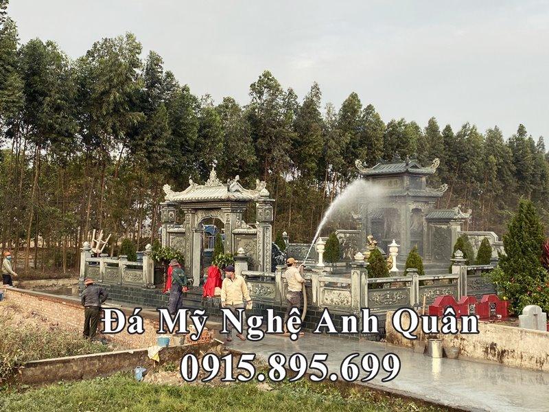 Toan canh khu Lang mo da dep tai Nam Dinh