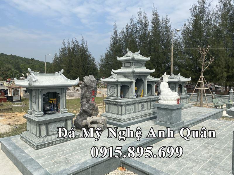 Lăng mộ đá xanh rêu đẹp, cao cấp Anh Quân tại Thanh Hóa