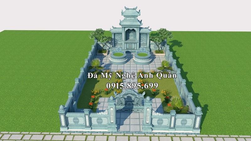 Khu Lăng mộ đá tròn đẹp do Nghệ nhân trẻ Anh Quân thiết kế.