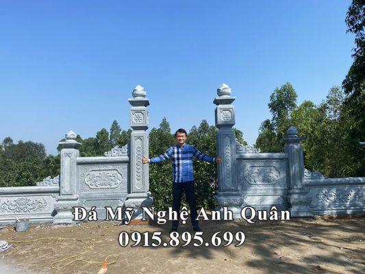 Lăng Mộ đá xanh rêu đẹp, cao cấp Anh Quân tại Phú Thọ