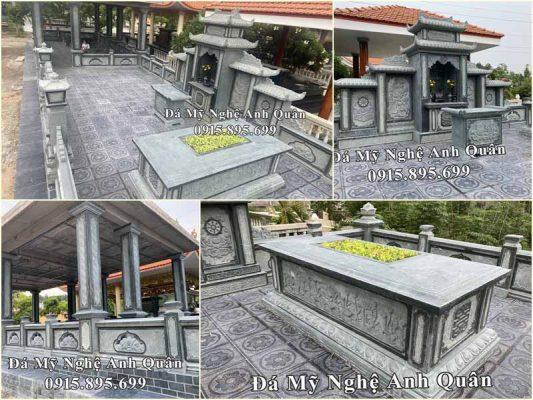 Mẫu Lăng mộ đá xanh rêu tại Hoa viên Phước Hoa, Đồng Nai.