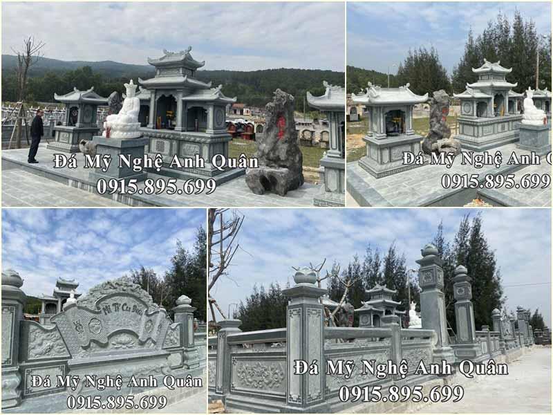 Mẫu Lăng mộ đá đẹp đá xanh rêu cao cấp tại Tĩnh Gia, Thanh Hóa.