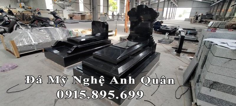 Mẫu Mộ đá hoa cương đẹp (Mẫu Mộ đá granite) cao cấp, nguyên khối 100%